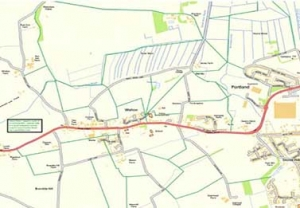local map of footpaths