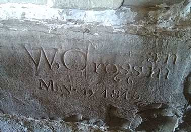 carved wall stone - W Crossman May 1815