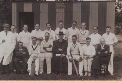 historical image of cricket team