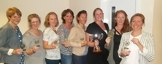 previous walton netball team with trophies